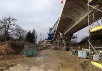 Métro ligne b, les 300 premiers mètres du viaduc sont posés à Cesson-Sévigné
