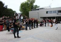 La foule à la répétition publique du bagad