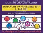 Concert de la Chorale Divertimento (Pont des Arts – dimanche 19 novembre 2017)