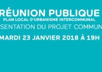 Réunion publique mardi 23 janvier – PLUi