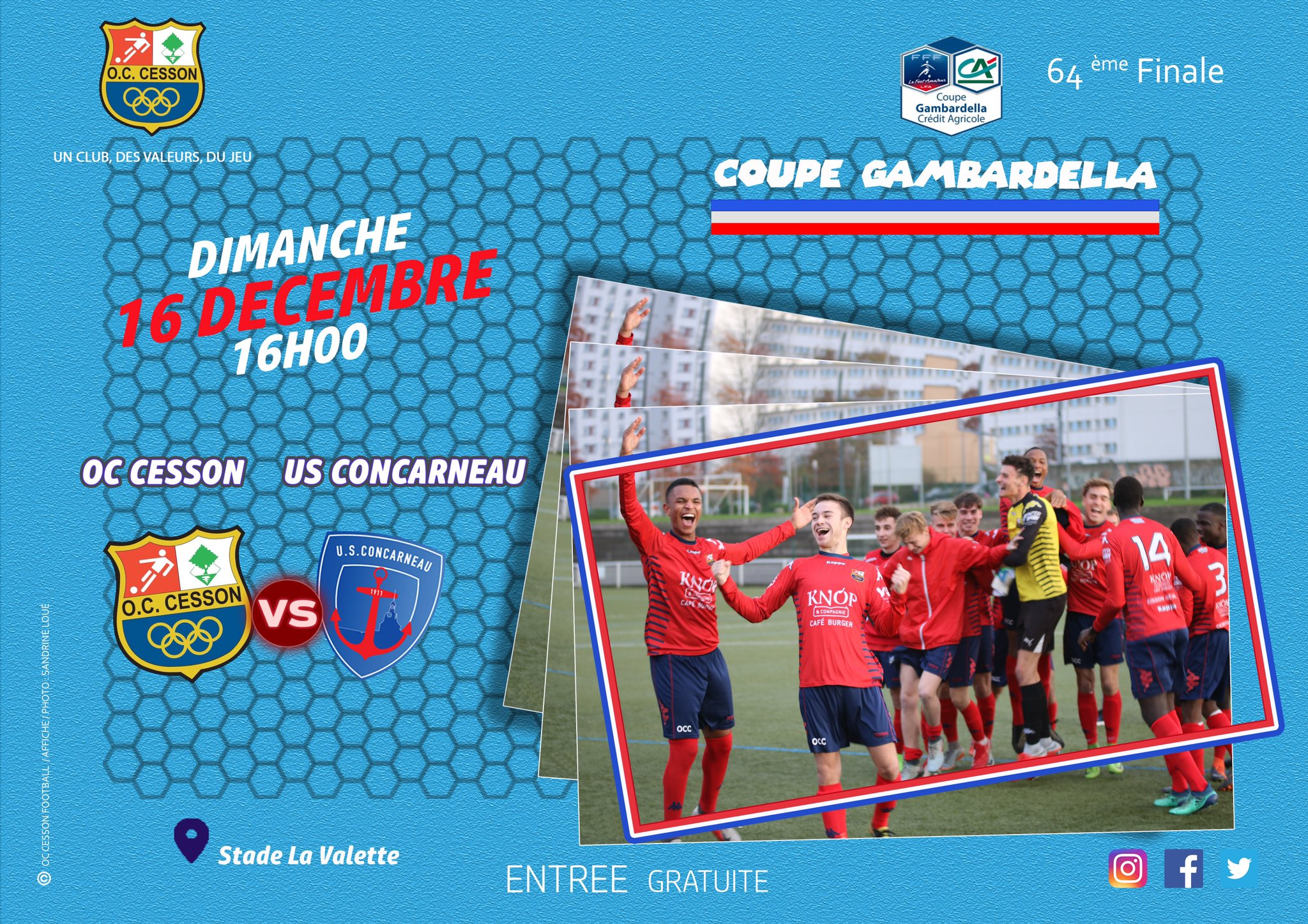 Football. Gambardella. OC Cesson - US Concarneau