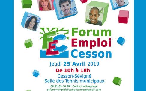 Forum emploi Cesson – Jeudi 25 avril 2019