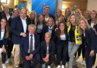 Le Maire accueille l'équipe de Suède