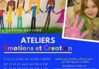 Emotions et Création – Nouveaux Ateliers aux Vacances d'été