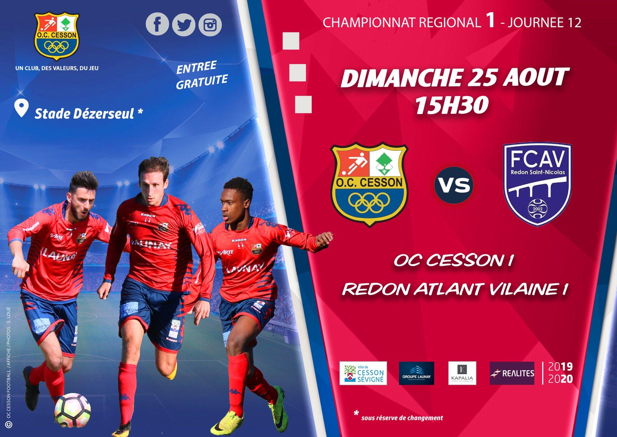 Football - OC Cesson - Redon (R1)