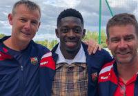 Ousmane Dembélé (FC Barcelone) à Cesson-Sévigné