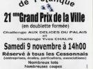Pétanque – Grand Prix de la Ville