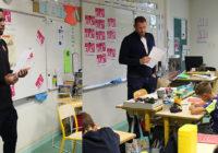 Stade Rennais – Jordan Siebatcheu et Sylvain Armand à l'école Beausoleil pour la dictée ELA