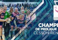 Handball – Cesson-Rennes, champion de Proligue et en 1ère division la saison prochaine