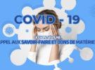 Coronavirus | Appel aux savoir-faire et dons de matériel