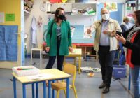 La députée Laurence Maillart-Méhaignerie et le Maire ont visité l'école Beausoleil