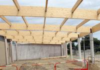 Photos – Construction du préau de l'école maternelle Bourgchevreuil