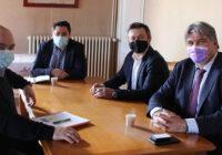 Une réunion de travail avec David Douillet