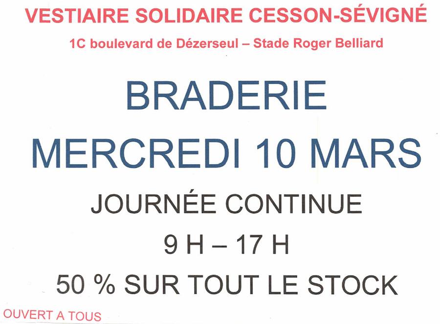 Braderie du Vestiaire Solidaire (stade municipal Roger Belliard)