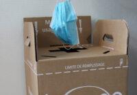 Des boites de récupération pour les masques chirurgicaux