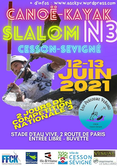 Canoë-kayak - Compétition N3 (Stade d'eaux-vives)