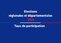 Élections régionales et départementales – 1er tour – Taux de participation