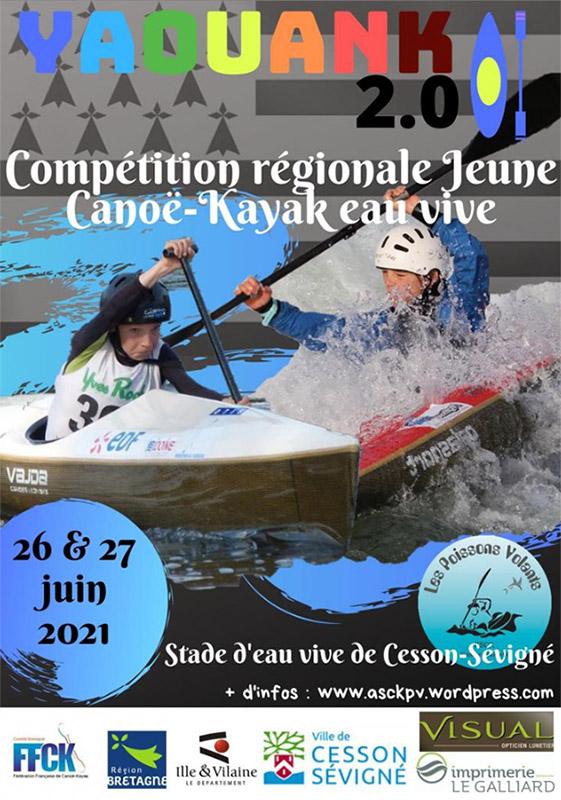 Compétition Canoë-Kayak Yaouank (Stade d'eaux-vives)