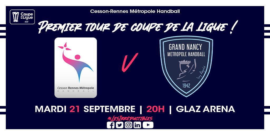 Handball - Cesson Rennes - Nancy (Glaz Arena, coupe de la Ligue)