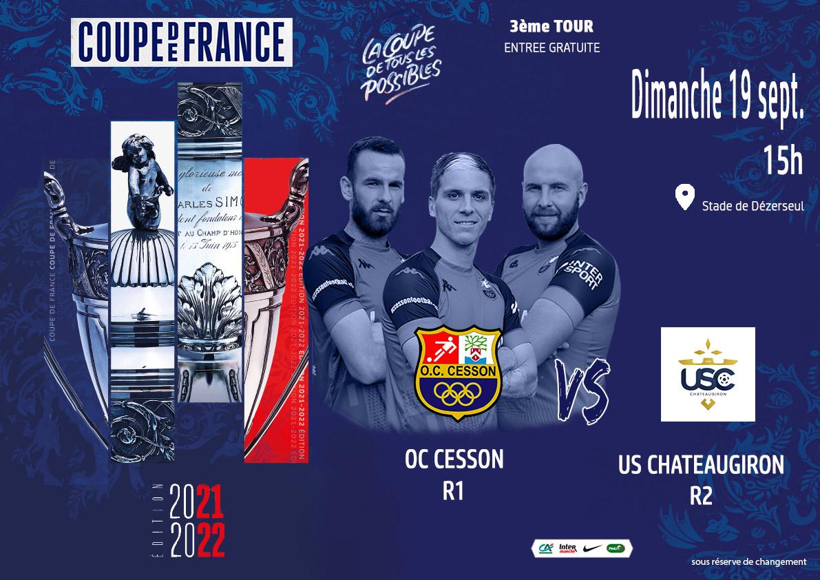 Football - OC Cesson - US Chateaugiron (Coupe de France, Dézerseul)