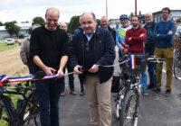 Vélos : la piste cyclable bidirectionnelle route de Paris a été inaugurée